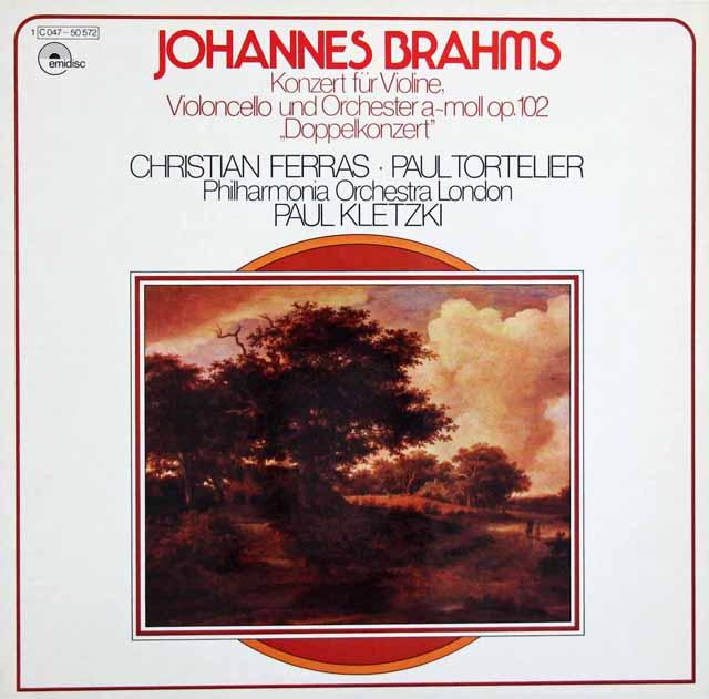 フェラス、トルトゥリエ&クレツキのブラームス/二重協奏曲 独emidisc(EMI) 3394 LP レコード
