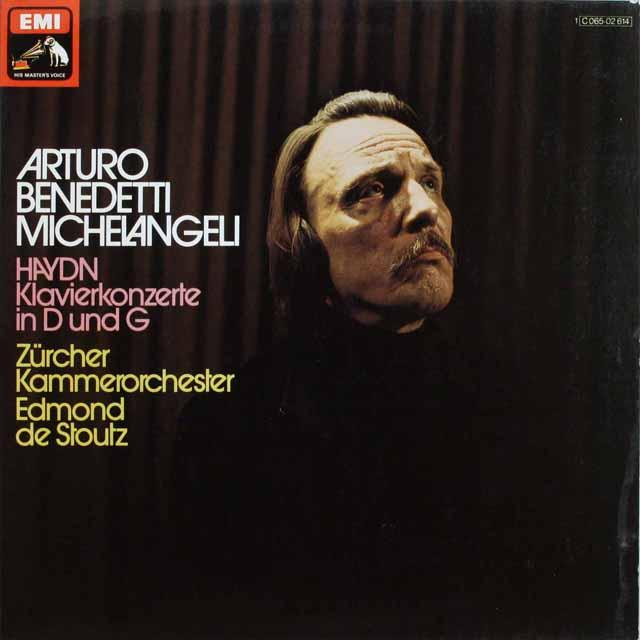 【独最初期盤】ミケランジェリのハイドン/ピアノ協奏曲集   独EMI 3232 LP レコード