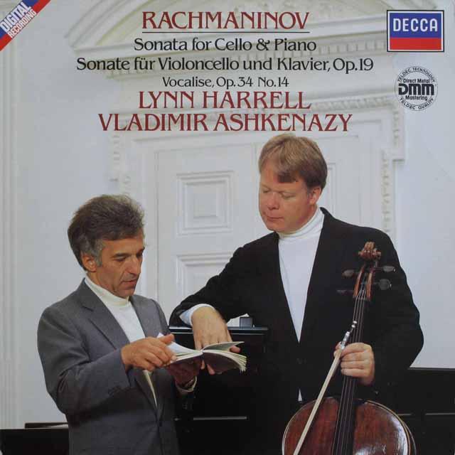 ハレル&アシュケナージのラフマニノフ/チェロソナタほか 独DECCA 3230 LP レコード