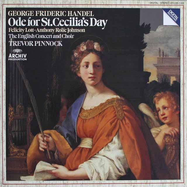 ピノックのヘンデル/聖セシリアの祝日のための頌歌 独ARCHIV 3230 LP レコード
