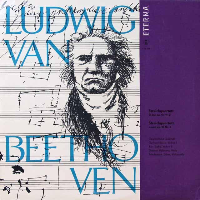 ゲヴァントハウス四重奏団のベートーヴェン/弦楽四重奏曲第2&4番  独ETERNA   2721 LP レコード