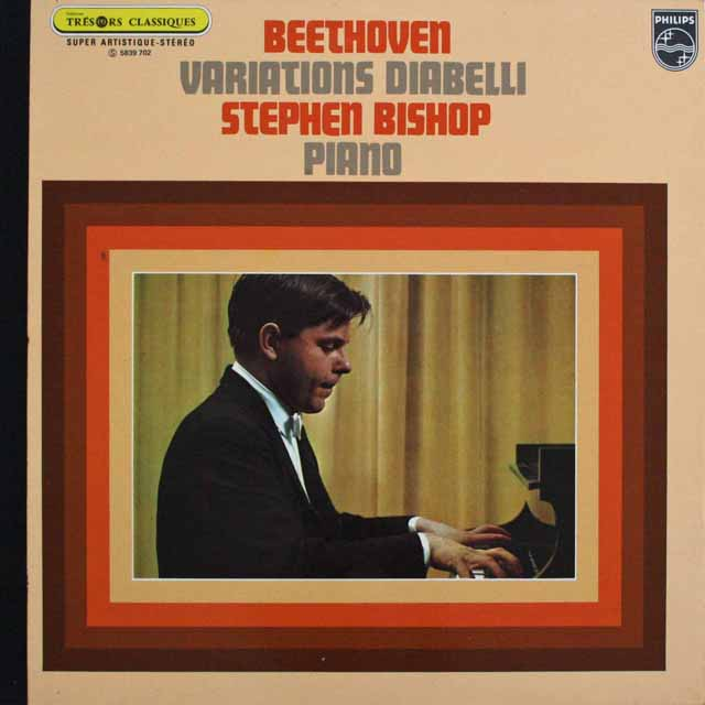 ビショップのベートーヴェン/ディアベリ変奏曲  仏PHILIPS 3301 LP レコード