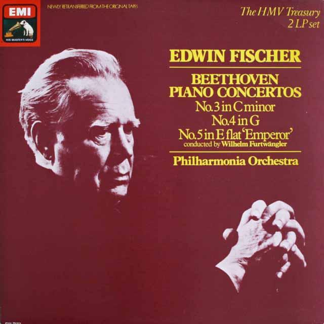 フィッシャー&フルトヴェングラーのベートーヴェン/ピアノ協奏曲第5番「皇帝」ほか 英EMI 3303 LP レコード