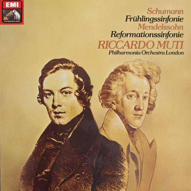 ムーティのシューマン/交響曲第1番「春」ほか 独EMI 3303 LP レコード