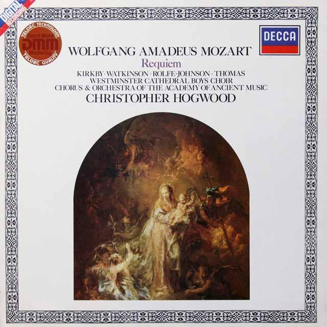 ホグウッドのモーツァルト/レクイエム 独DECCA 3291 LP レコード