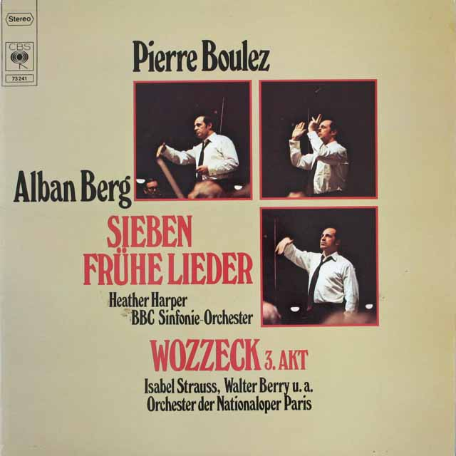 ブーレーズのベルク/「7つの初期の歌」ほか 独CBS 3308 LP レコード