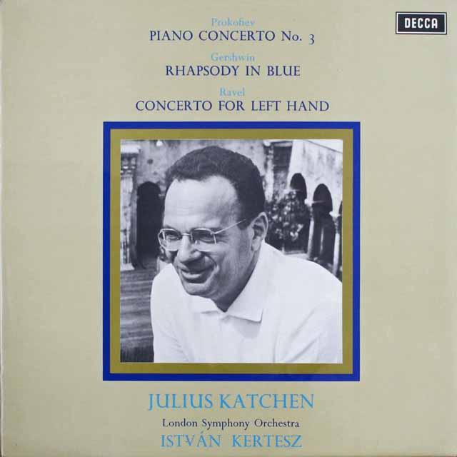 【オリジナル盤】 カッチェン&ケルテスのラヴェル/左手のための協奏曲ほか 英DECCA 3309 LP レコード