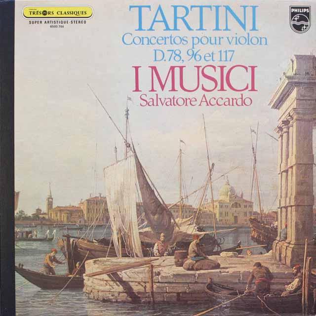 アッカルドとイ・ムジチのタルティーニ/ヴァイオリン協奏曲集 仏PHILIPS 3310 LP レコード