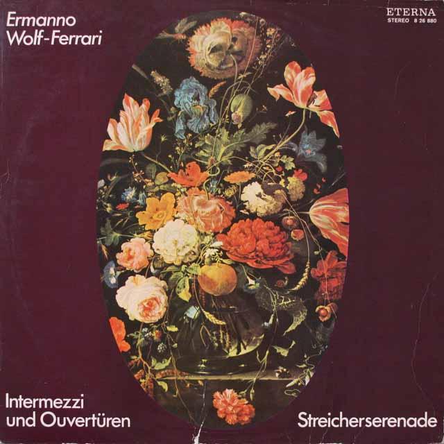 レーグナーのヴォルフ=フェラーリ/オペラ序曲集ほか 独ETERNA  2624 LP レコード