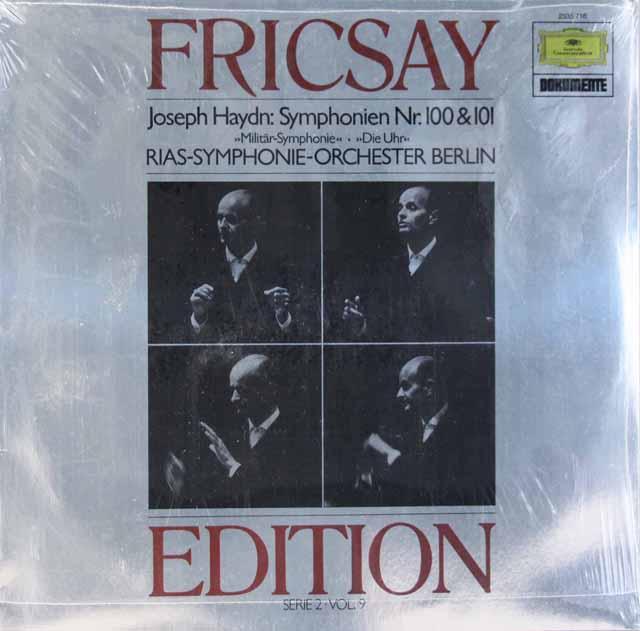 【未開封】 フリッチャイのハイドン/交響曲第100番「軍隊」&第101番「時計」 独DGG 3286 LP レコード