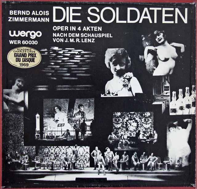 ギーレンのツィンマーマン/「兵士たち」 独WERGO 3286 LP レコード