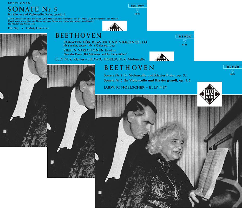【LP レコード】 ヘルシャー&ナイのベートーヴェン/チェロ・ソナタ全集 <完全限定生産/ドイツ・プレス> KKC1193/1195 3LP