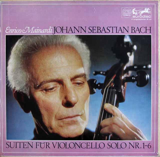 【オリジナル盤】マイナルディのバッハ/無伴奏チェロ組曲 独Eurodisc 3005 LP レコード