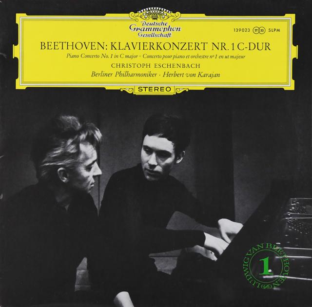 エッシェンバッハ&カラヤンのベートーヴェン/ピアノ協奏曲第1番 独DGG 3226 LP レコード