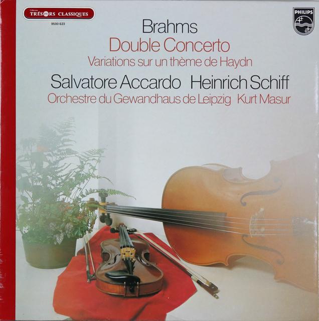 アッカルド&シフらのブラームス/ヴァイオリンとチェロのための二重協奏曲ほか 仏PHILIPS 2745 LP レコード