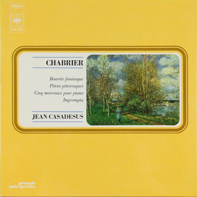 カサドシュのシャブリエ/ピアノ作品集 仏CBS 3287 LP レコード