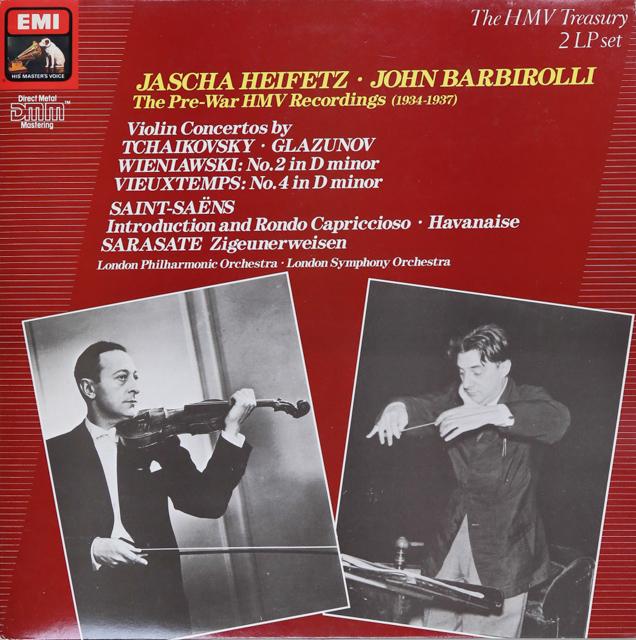 ハイフェッツ&バルビローリのチャイコフスキー/ヴァイオリン協奏曲ほか 英EMI 2741 LP レコード