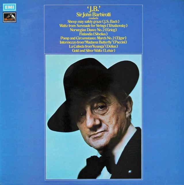 バルビローリのシベリウス/「フィンランディア」ほか 英EMI 3037 LP レコード