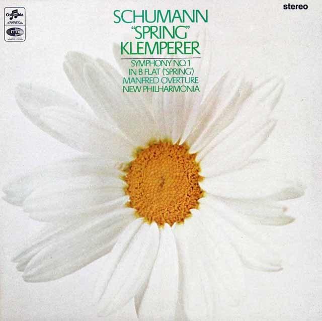 【オリジナル盤】クレンペラーのシューマン/交響曲第1番「春」  英Columbia 3038 LP レコード