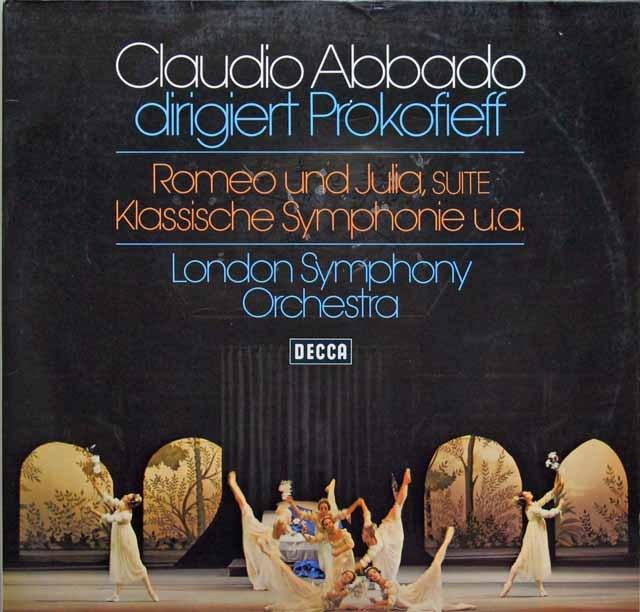 アバドのプロコフィエフ/「ロメオとジュリエット」&古典交響曲ほか 独DECCA 3296 LP レコード