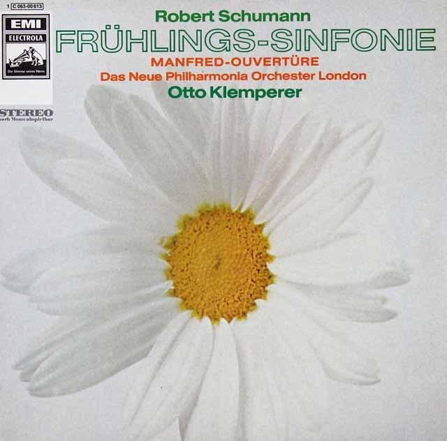 クレンペラーのシューマン/交響曲第1番《春》ほか 独EMI 3037 LP レコード
