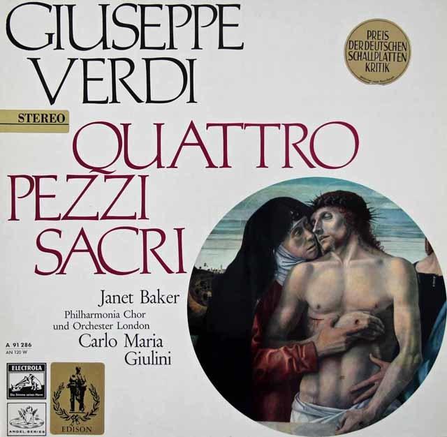 ジュリーニのヴェルディ/聖歌四篇 独Electrola 3037 LP レコード