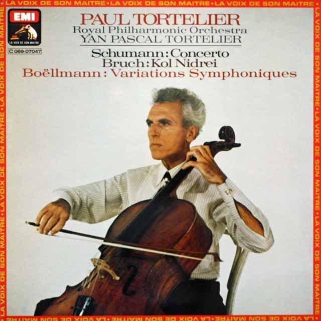 トルトゥリエのシューマン/チェロ協奏曲、ボエルマン/交響的変奏曲ほか