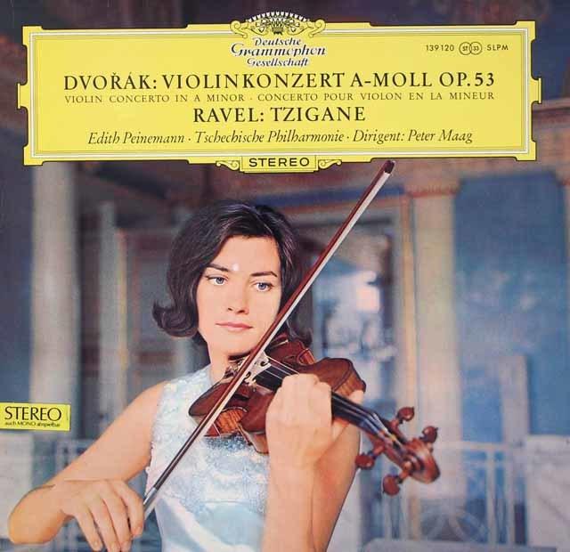 【オリジナル盤】パイネマンのドヴォルザーク/ヴァイオリン協奏曲 独DGG 3037 LP レコード