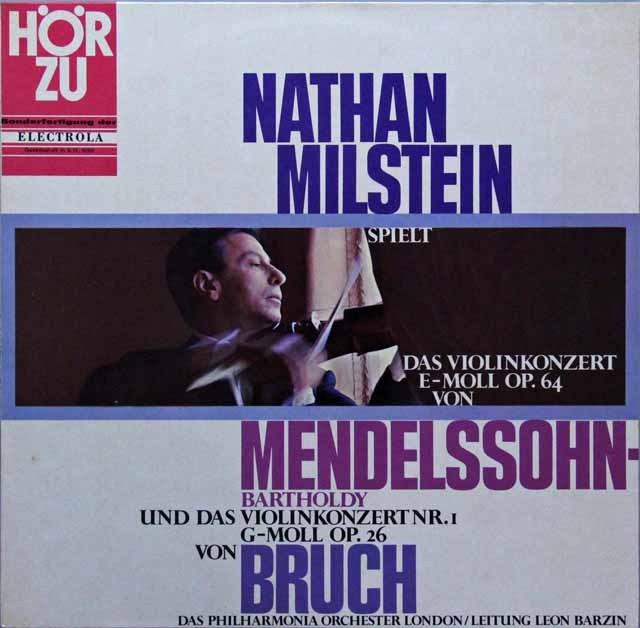 ミルシュタインのメンデルスゾーン&ブルッフ/ヴァイオリン協奏曲集 独HOERZU(EMI) 2825 LP レコード