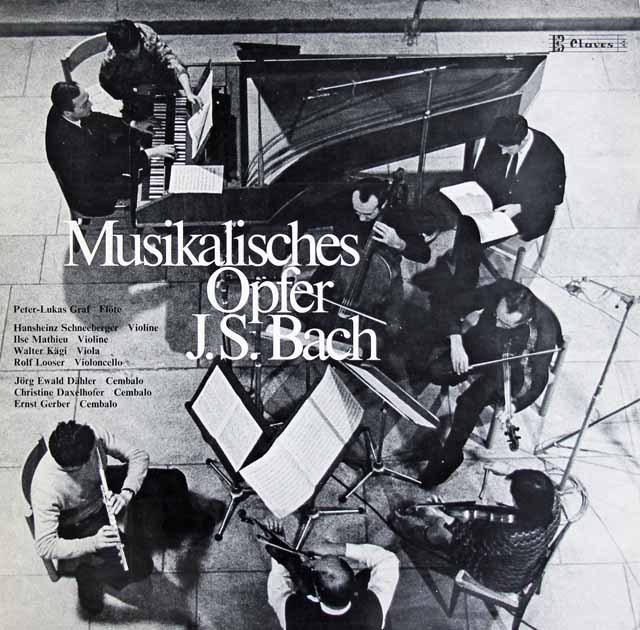 グラーフらのバッハ/音楽の捧げもの スイスClaves 3296 LP レコード