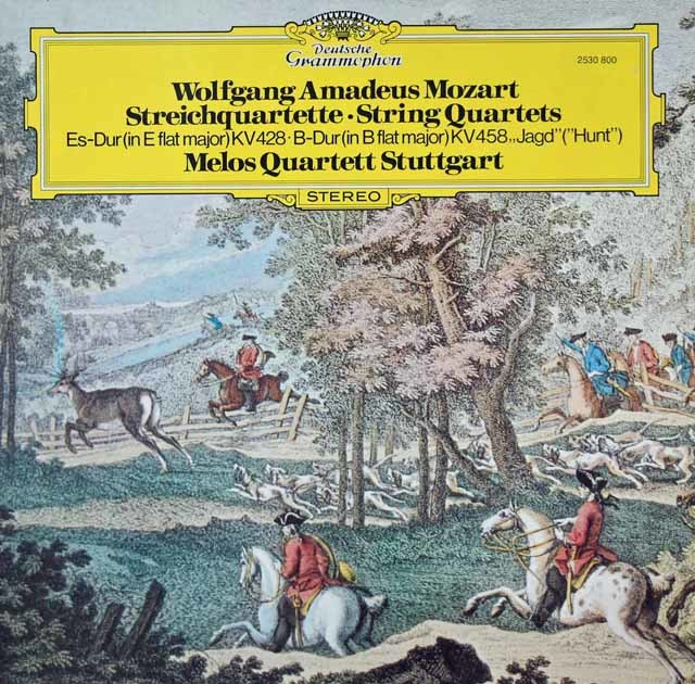 メロス四重奏団のモーツァルト/弦楽四重奏曲第16&17番「狩」    独DGG 3037 LP レコード