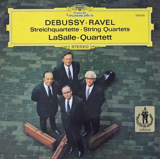 ラサール四重奏団のドビュッシー&ラヴェル/弦楽四重奏曲集   独DGG 3037 LP レコード
