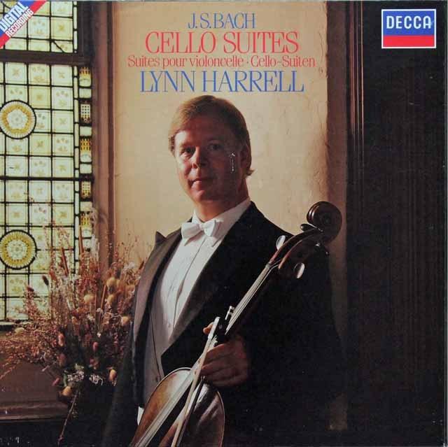 ハリルのバッハ/バッハ/無伴奏チェロ組曲全集(全6曲) 蘭DECCA 2825 LP レコード