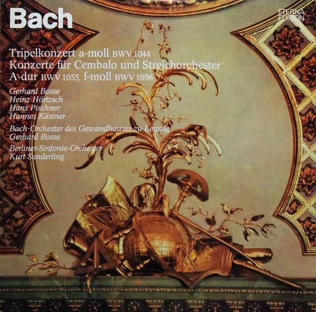 ピシュナー、ボッセ&ザンデルリンクらのバッハ/協奏曲集 独ETERNA 3296 LP レコード