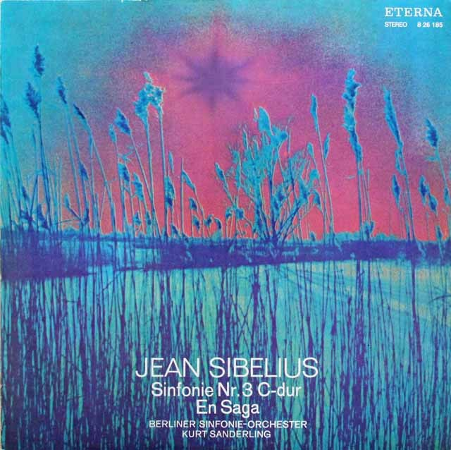 【テストプレス】ザンデルリンクのシベリウス/交響曲第3番ほか 独ETERNA 2825 LP レコード