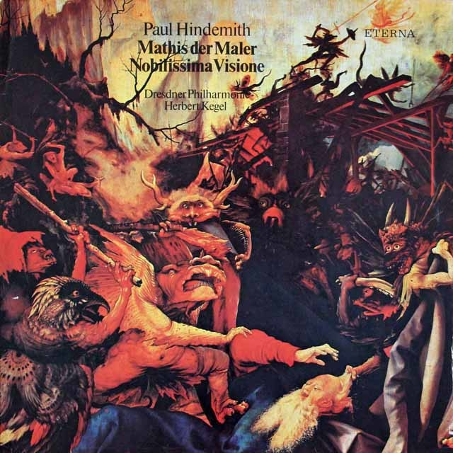 ケーゲルのヒンデミット/「画家マチス」、「いとも気高き幻想」 独ETERNA 3037 LP レコード