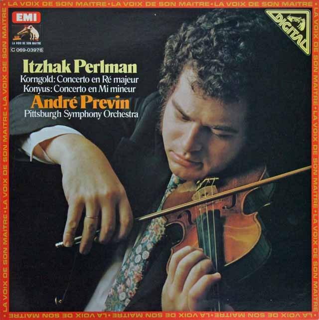 パールマン&プレヴィンのコルンゴルト/ヴァイオリン協奏曲ほか 仏EMI(VSM) 3296 LP レコード