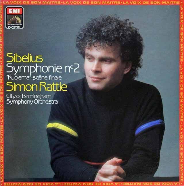 ラトルのシベリウス/交響曲第2番ほか 仏EMI(VSM) 2825 LP レコード