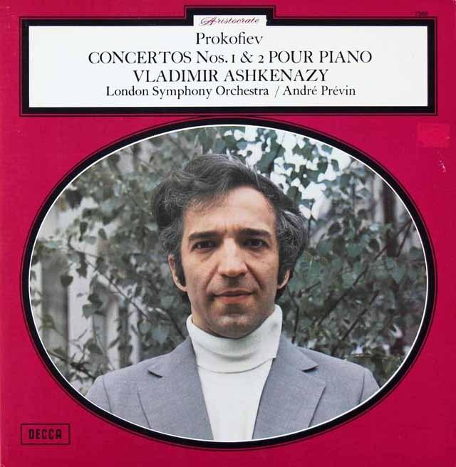 アシュケナージ&プレヴィンのプロコフィエフ/ピアノ協奏曲第1&2番ほか 仏DECCA 2821 LP レコード
