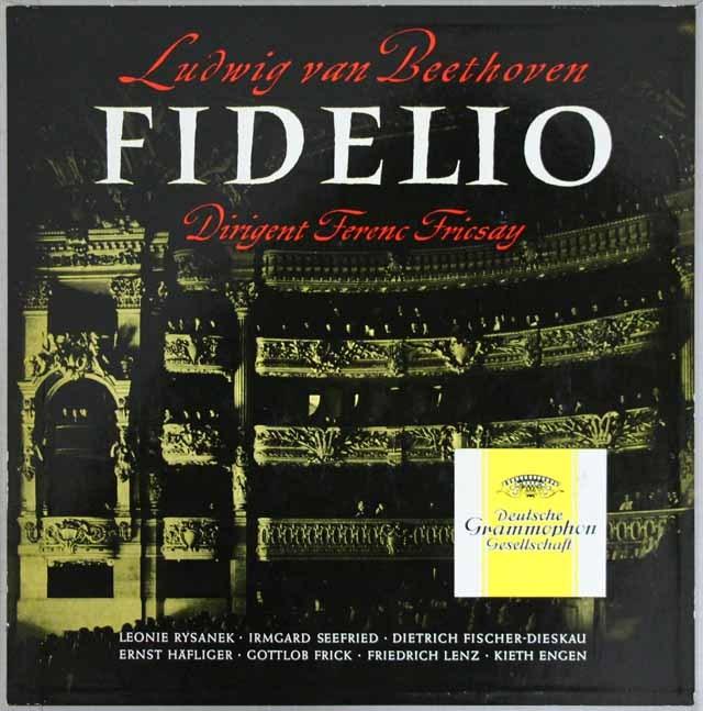 【独最初期盤】 フリッチャイのベートーヴェン/「フィデリオ」 独DGG 3296 LP レコード