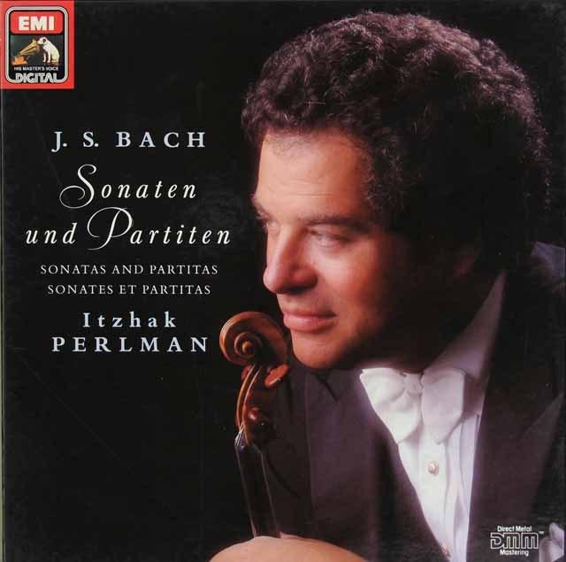 パールマンのバッハ/無伴奏ヴァイオリンのためのソナタとパルティータ集 独EMI 2827 LP レコード