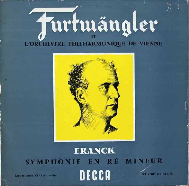 フルトヴェングラーのフランク/交響曲ニ短調 仏DECCA 2821 LP レコード