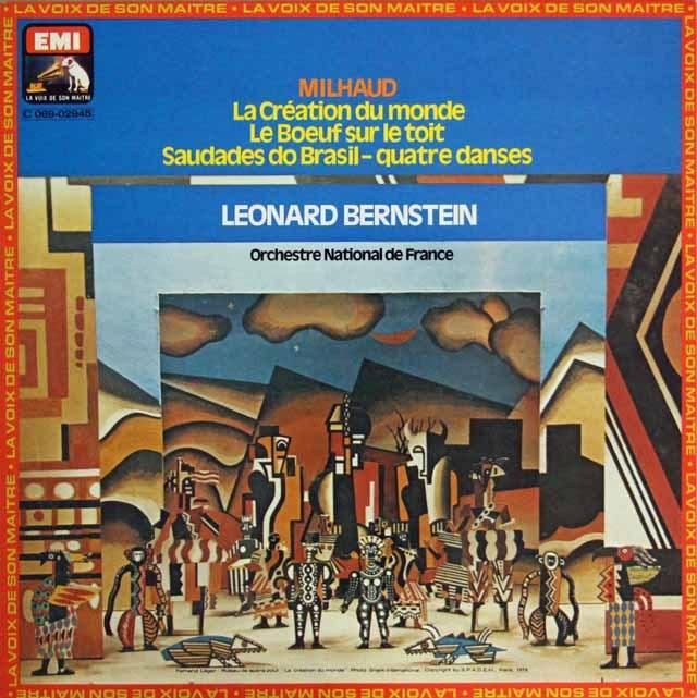 バーンスタインのミヨー/「世界の創造」ほか 仏EMI(VSM) 3296 LP レコード