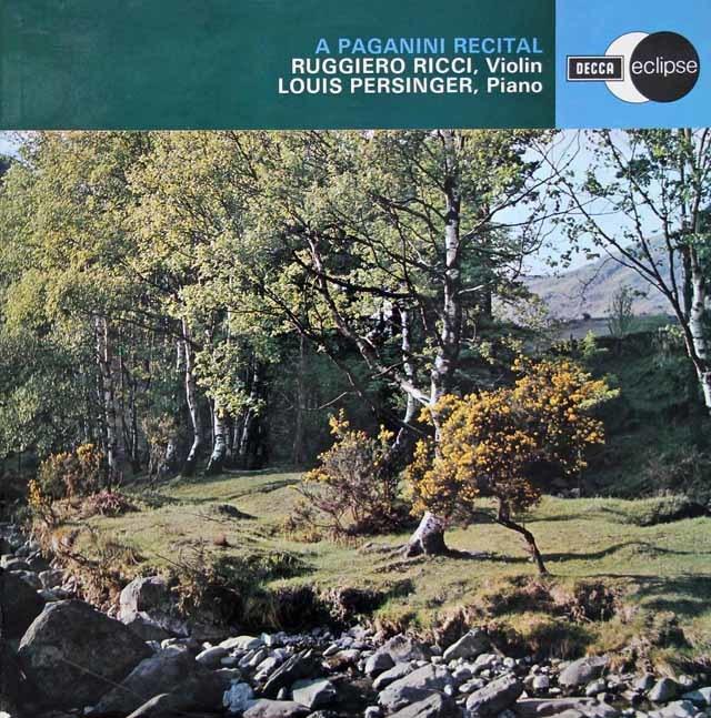 リッチのパガニーニ作品集   英DECCA 3037 LP レコード