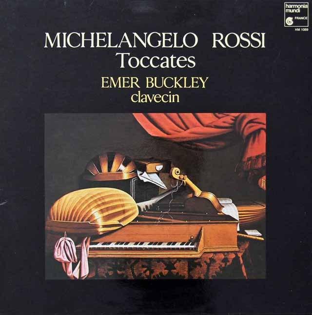バックリーのロッシ/チェンバロのためのトッカータと-クーラント 仏HM 2821 LP レコード