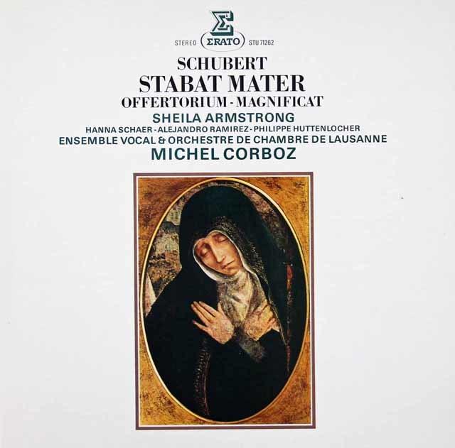 コルボのシューベルト/「スターバト・マーテル」ほか   仏ERATO  3037 LP レコード
