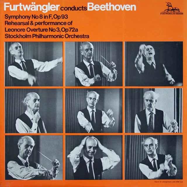 フルトヴェングラーのベートーヴェン/交響曲第8番ほか  英Unicorn 3037 LP レコード