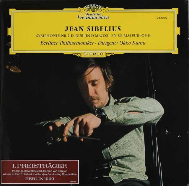 カムのシベリウス/交響曲第2番 独DGG 3296 LP レコード