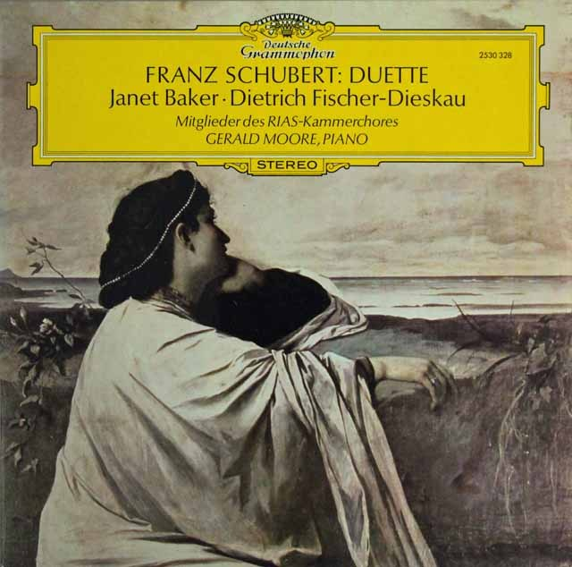 ベイカー&ディースカウのシューベルト/二重唱集 独DGG 3296 LP レコード