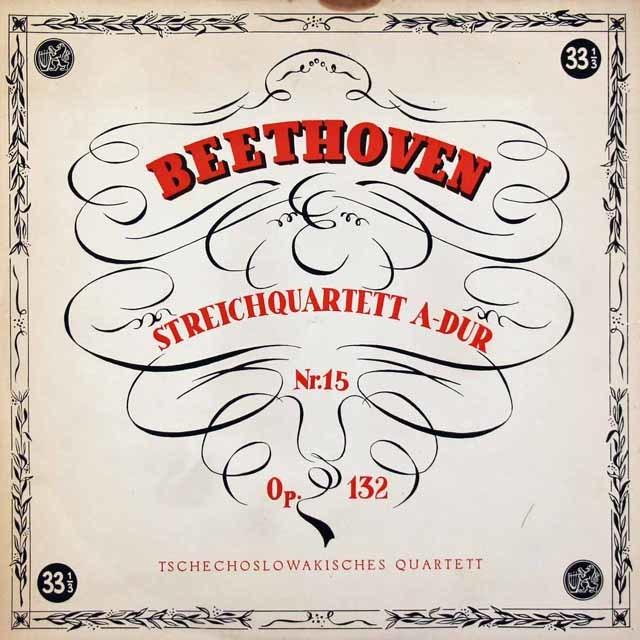 チェコスロヴァキア四重奏団のベートーヴェン/弦楽四重奏曲第15番 チェコスロヴァキアSUPRAPHON 3037 LP レコード
